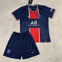 Детская футбольная форма ПСЖ домашняя сезон 2020-2021, фото 1