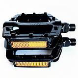 Черные алюминивые педали NECO 625, шипы., фото 3
