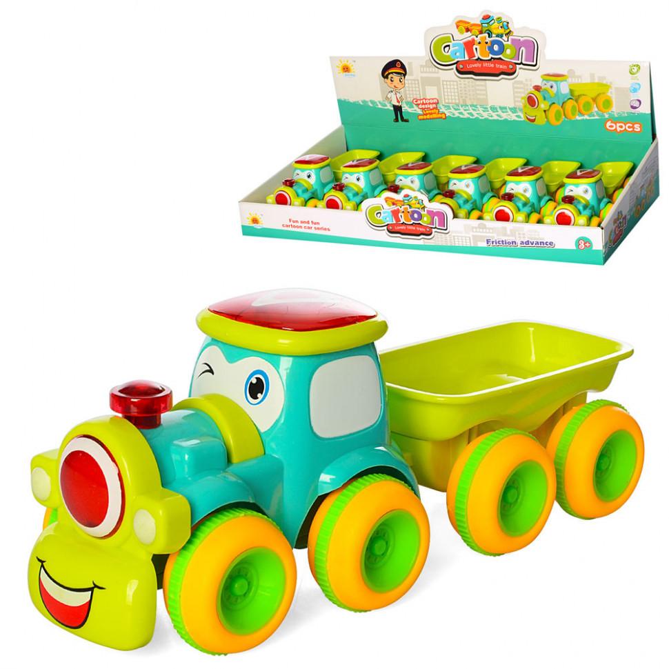 Трактор  с прицепом 0553