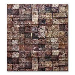 Самоклеющиеся обои под Брусы  (самоклеющиеся 3d панели для стен ) 700x770x6 мм