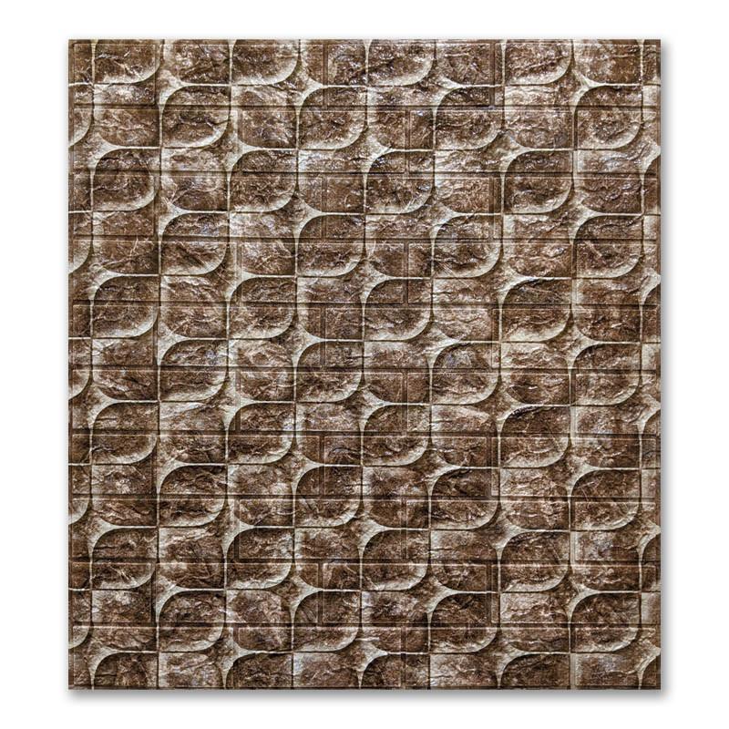 Самоклеющиеся обои под Кирпич Чешуя (абстракция самоклеющиеся 3d панели для стен) 700x770x6 мм