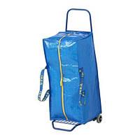 """IKEA """"ФРАКТА""""  Тележка с сумкой, синий"""