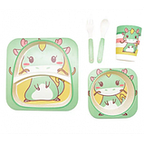 Набор детской посуды из бамбука  Дракончик (5 предметов), фото 2