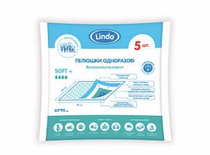 """Впитывающие универсальные пелёнки размер 60*90 см 5 штук  """"Lindo"""" (Линдо) U 51806"""