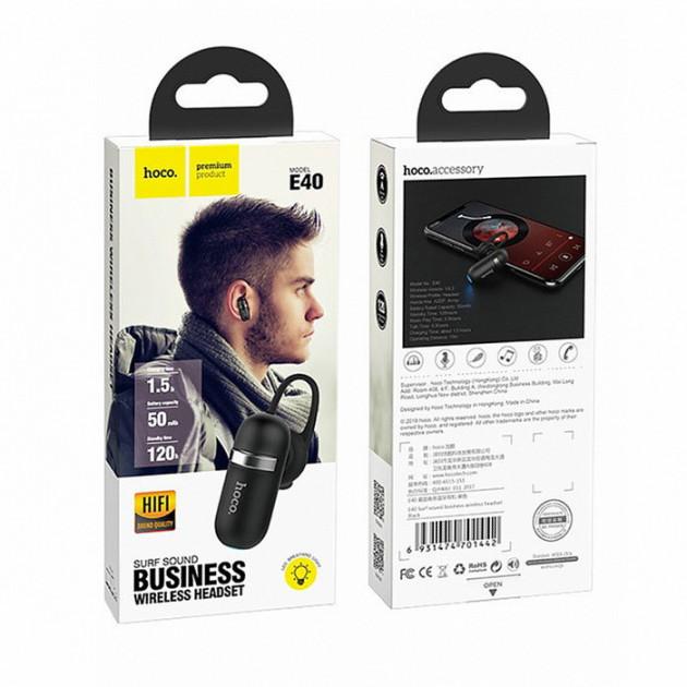 Bluetooth-гарнитура Hoco E40 (Bluetooth 4.2) Black