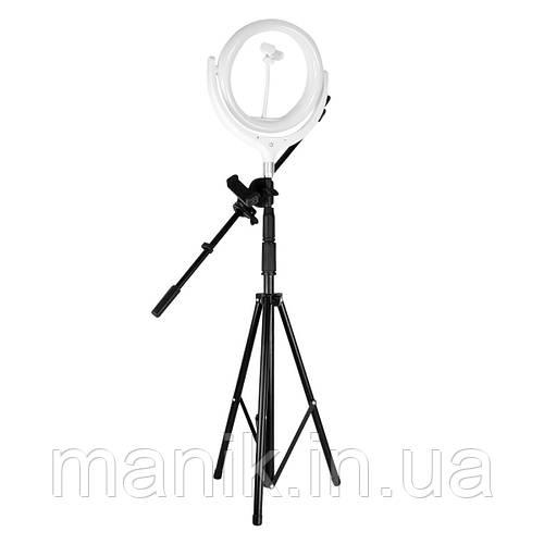 Кольцевая лампа 25см с штатив-треногой, фиксатор телефона и микрофона