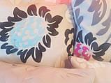Комплект подушок беж Квіти абстракція,4шт, фото 2