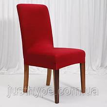 Чехол на стулья универсальный для мебели цвет красный  Код 14-0710