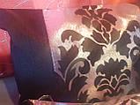 Комплект подушек  серебро с черным коронка тафта, 6шт, фото 2