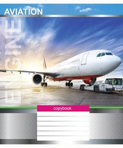 Тетрадь 24 листа в клетку (3004к) Авиация