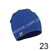 Трикотажна однотонна дитяча шапка Bape 44-54см Синя