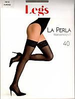 Панчохи жіночі з мереживом Legs La Perla 40 den, фото 1