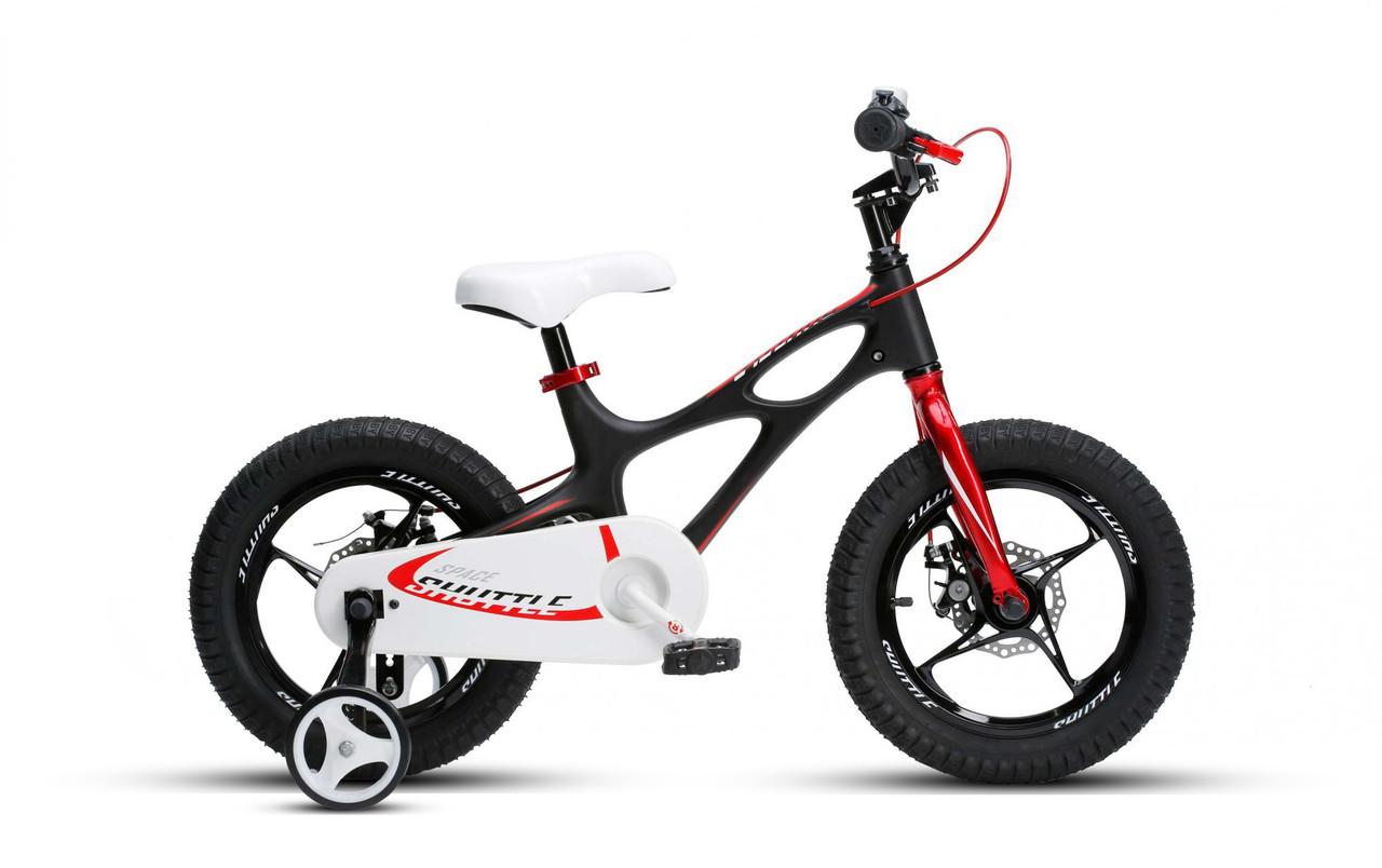"""Велосипед детскийот 4 до 5 лет RoyalBaby SPACE SHUTTLE 14"""", OFFICIAL UA, черный"""