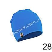 Трикотажна однотонна дитяча шапка Bape 44-54см Блакитна