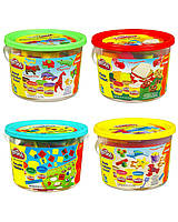 "Пластилин Play-Doh (Плей до) Ведёрко с формочками и 4 баночки теста ""Морские обитатели"" Hasbro (Хасбро)"