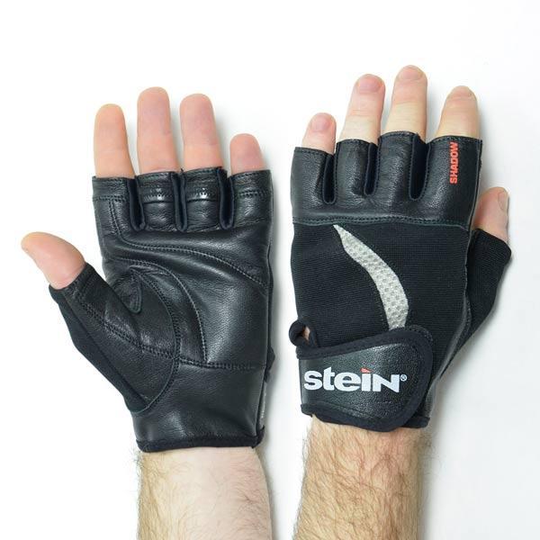 Перчатки атлетические мужские для фитнеса и бодибилдинга Stein Shadow (M) - чёрно-серые для дома и спортзала