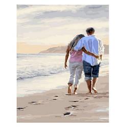Картина по номерам Brushme 40х50 Вдвоем по берегу моря (GX23618)