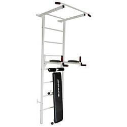 Шведская стенка металлическая Fitlogic FL01/ белая/ сталь для дома и спортзала с нагрузкой до 100 кг