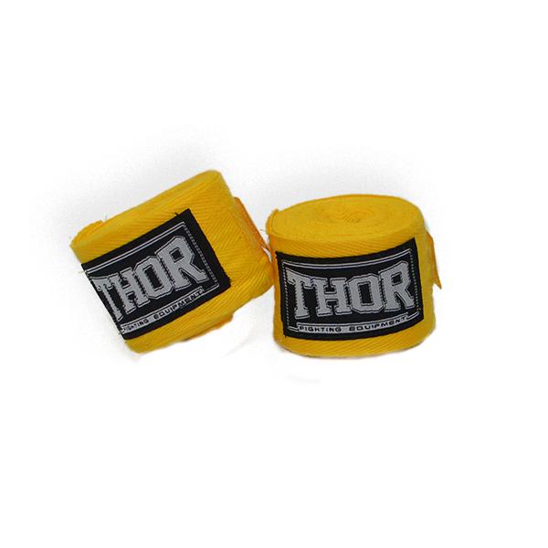 Бинт эластичный для бокса THOR 400 см. /желтый бинты защитные для рук