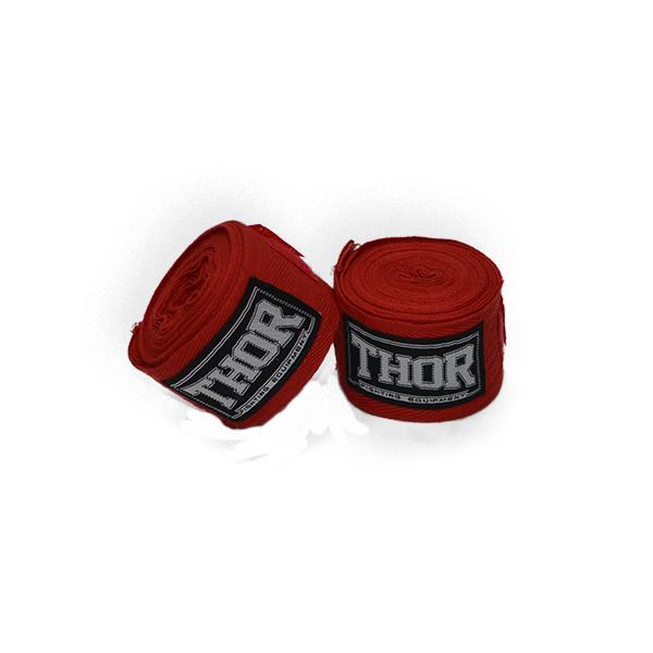Бинт эластичный боксерский THOR 400 см. /красный защитные бинты для рук