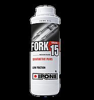 Вилочное масло для мотоциклов IPONE Fork 15 (1л) SAE 15W, фото 1