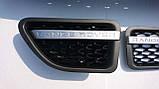 Решітка радіатора + жабри Range Rover Sport 06-10 (сірий+чорний), фото 4