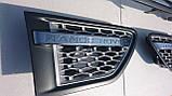 Решетка радиатора + жабра Range Rover Sport 2009-2013 (серая+хром), фото 4