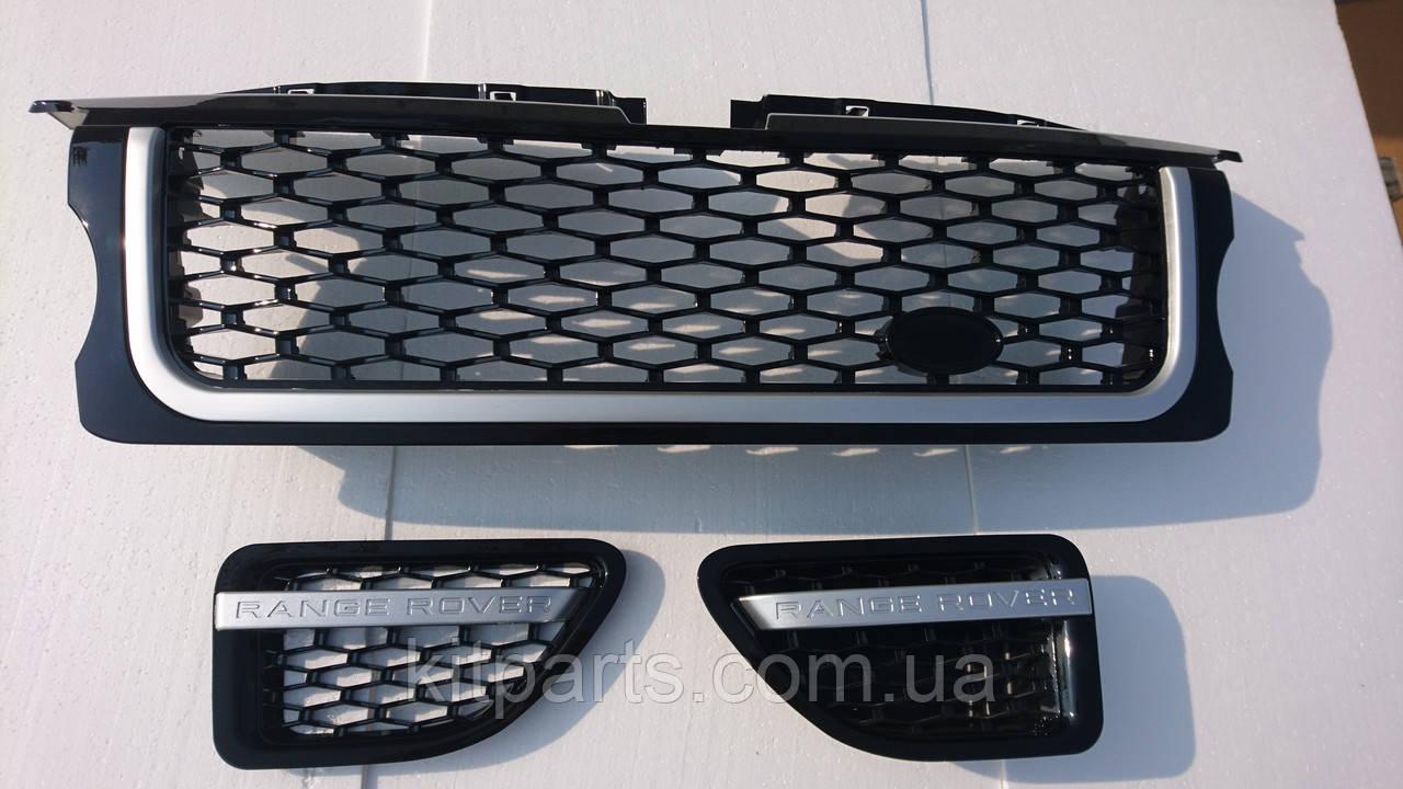 Черная решетка радиатора Range Rover Sport 2005-2009