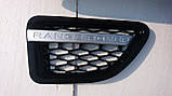 Черная решетка радиатора Range Rover Sport 2005-2009, фото 3