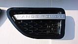 Черная решетка радиатора Range Rover Sport 2005-2009, фото 4