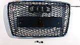 Решітка радіатора Audi Q7 12+ стиль RSQ7, фото 2