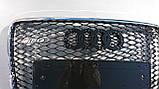 Решітка радіатора Audi Q7 12+ стиль RSQ7, фото 5