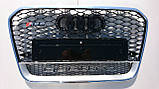 Решетка радиатора Audi A6 стиль RS6 12+, фото 2