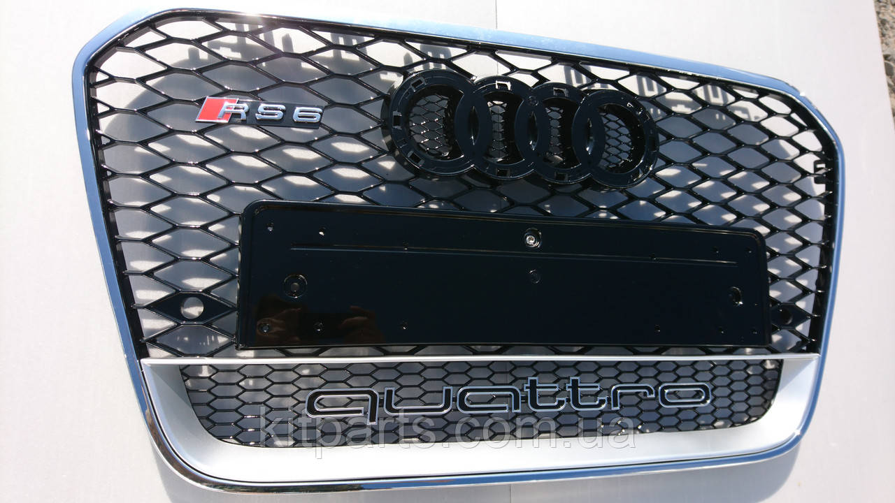 Решетка радиатора Audi A6 стиль RS6 12+