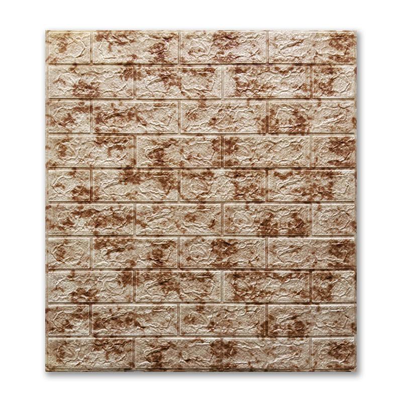 Декоративная 3Д-панель стеновая кирпич Красный Мрамор (самоклеющиеся 3d панели для стен оригинал) 700x770x7 мм