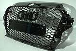 Решітка радіатора Audi A3 стиль RS3 Black 12-15, фото 2