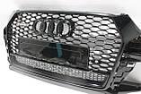 Решетка радиатора Audi Q3 стиль RSQ3 Black Quattro 16-17, фото 2
