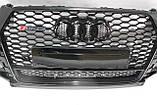 Решетка радиатора Audi Q3 стиль RSQ3 Black Quattro 16-17, фото 4