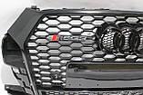 Решетка радиатора Audi Q3 стиль RSQ3 Black Quattro 16-17, фото 5