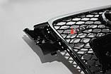 Решетка радиатора стиль RS4 на Audi A4 8-11, фото 2