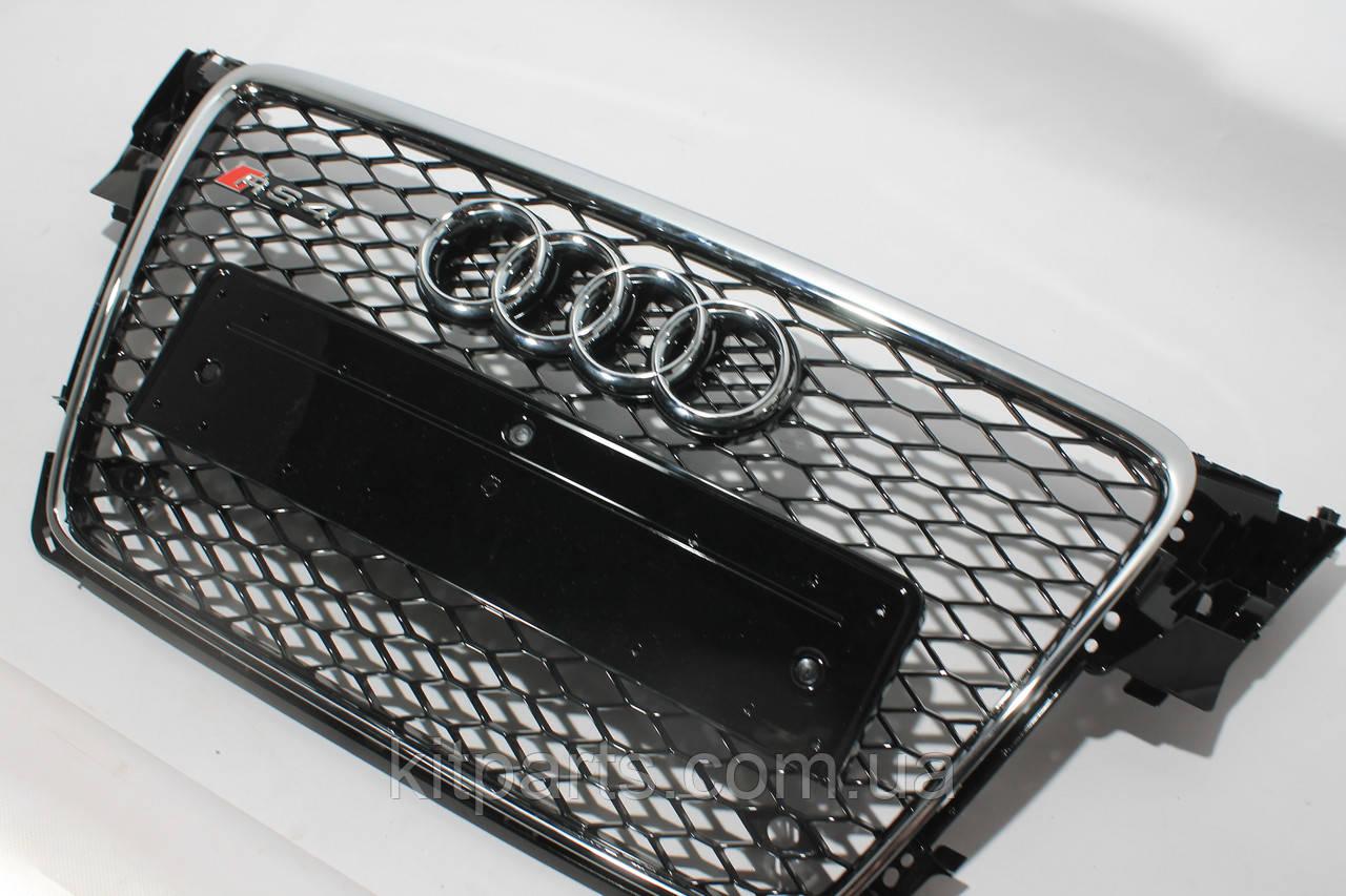 Решетка радиатора стиль RS4 на Audi A4 8-11