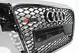 Решетка радиатора стиль RS4 на Audi A4 8-11, фото 4