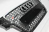 Решетка радиатора стиль RS4 на Audi A4 8-11, фото 5
