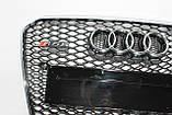Решетка радиатора стиль RS5 на Audi A5 12-15, фото 3