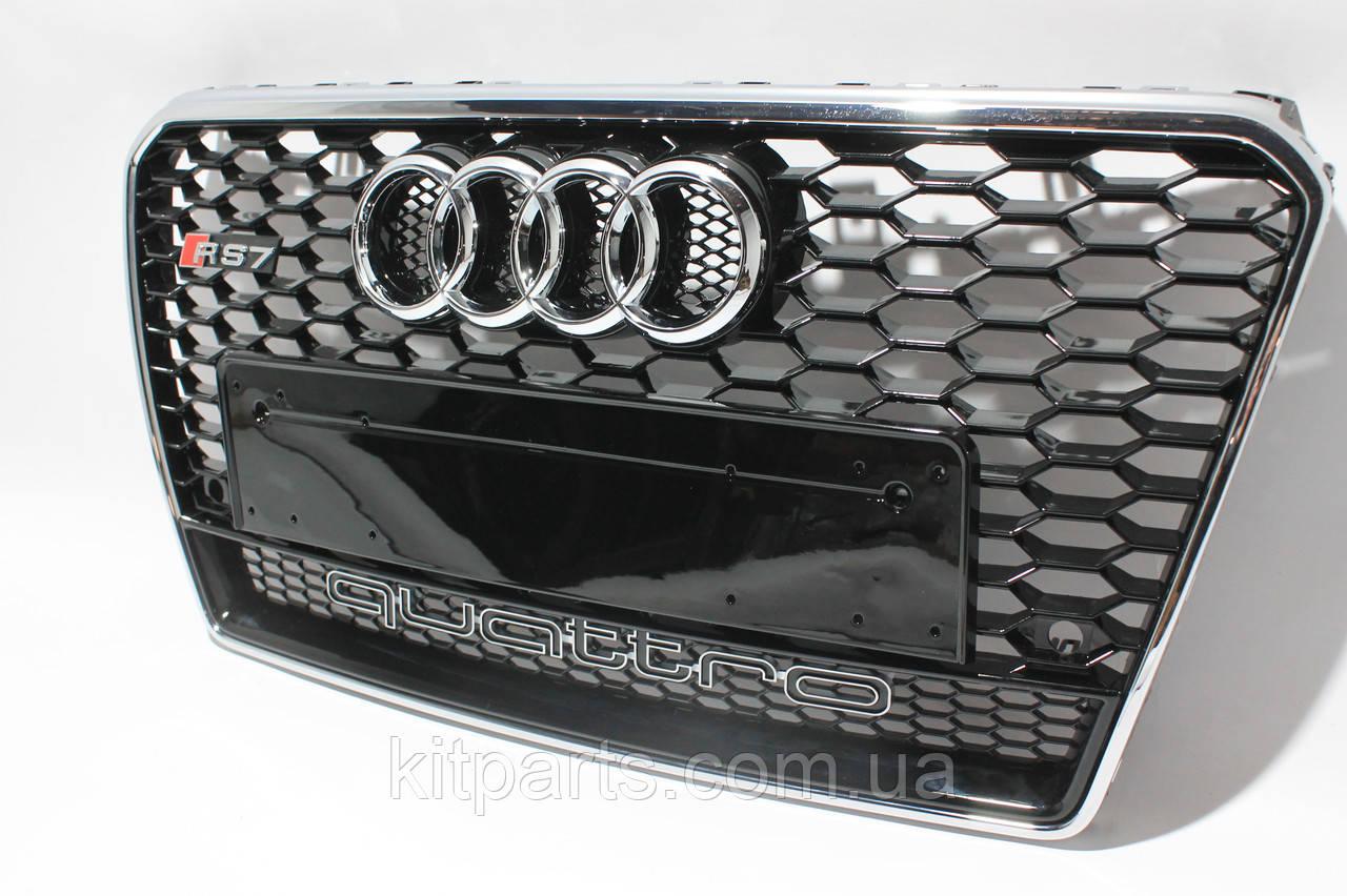 Решетка радиатора стиль RS7 для Audi A7 12-15