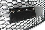 Решетка радиатора стиль RS6 на Audi A6 16+ Black, фото 2