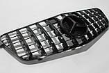 Черная решетка радиатора Mercedes W212 09-13 GT, фото 2