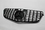 Черная решетка радиатора Mercedes W212 09-13 GT, фото 4