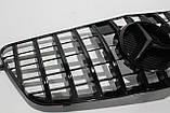 Черная решетка радиатора Mercedes W212 09-13 GT, фото 5