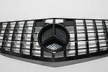 Черная решетка радиатора Mercedes W212 09-13 GT, фото 6
